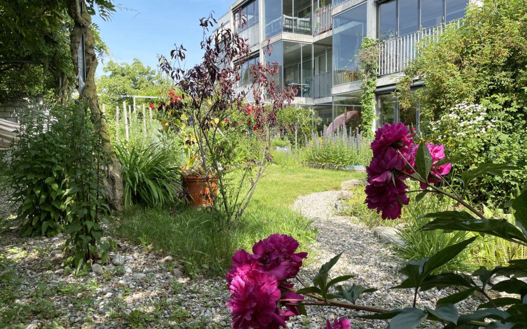 5.5-Zimmer-Eigentumswohnung mit Wintergarten und naturnahem Garten